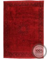 Persian Kerman Vintage Rug - Rich Red - front view