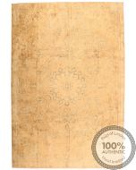 Persian Kerman Vintage Rug - Cream / Beige - front view