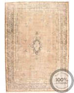 Persian Kerman Vintage Rug - Beige / Brown - front view