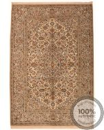 Persian Kashan Keshan rug - Beige & Light Brown - front view