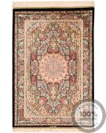 Qum Floral design rug signed by Majlohi
