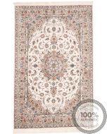 Persian fine Qum 100% silk rug - Beige