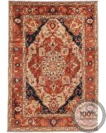 Heriz Design rug Part Silk