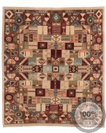 Modern Garous Geometric Design & Mixed Colours - front view