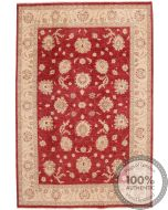 GAROUS / ZIEGLER DESIGN RUG - Red 9'6 x 6'3