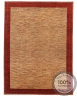 Garous Modern / Ziegler Design Rug - Mix Beige Background / Red Borders - front view