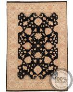 Garous or  Ziegler Contemporary Design Rug - Black 6'4 x 4'4