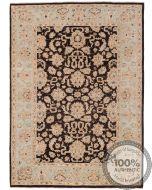 Garous Ziegler design rug - Dark Brown & Beige - front view