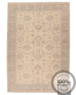 Garous Ziegler design rug - Beige Background / Grey Borders - front view