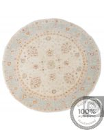 Circular Garous Ziegler design rug - Light Blue 4'6 x 4'6