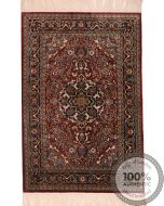 Chinese Persian design pure silk pile rug 6'23 x  4'1