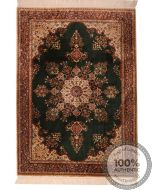 Chinese Persian design pure silk pile rug - 6'79 x 4'66