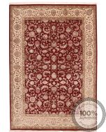 Traditional Keshan design Part silk rug - 8' x 5'5