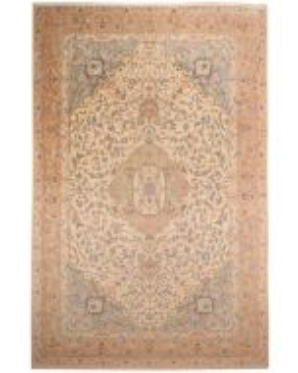 Tabriz Fine 50RAJ Beige Wool with Silk highligh - front view
