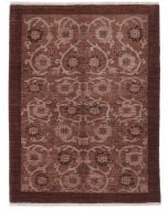 Persian Gabbeh Modern Rug - Brown - front view