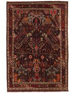 Persian Shahrbabak Rug - Dark Red/Brown - front view