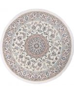 Persian Nain circular rug - Silk highlights