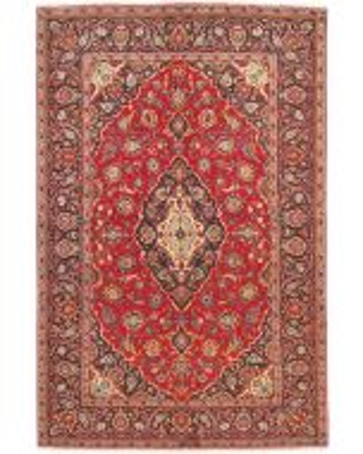 Persian Keshan / Kashan Rug - Bright Red / Dark Red - front view