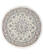 Persian Nain Circular rug with silk highlights