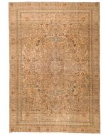 Persian Mashad Vintage Rug - Beige -font view