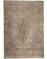 Persian Kerman Vintage Rug - Grey - front view
