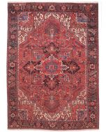 Persian Heriz rug - Soft Red - front view