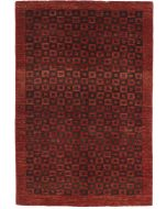 Garous Ziegler design modern rug - Burgundy & Brown