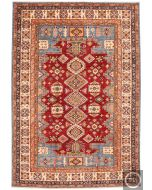 Caucasian Kazak design rug - red & Blue
