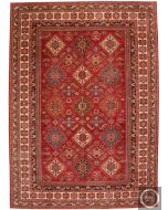Caucasian Kazak design rug - Deep Red