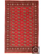 Bokhara Rug - Red / Dark Red / Beige Design / Medium - front view