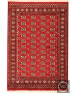 Bokhara design rug red - Elephant footprint