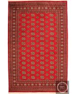 Bokhara Rug Red - Red / Dark Red / Cream Beige Motifs / Large - front view
