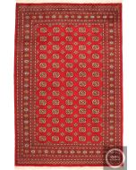 Red Bokhara Design Rug - Red / Cream Beige Design / Large Size - front view