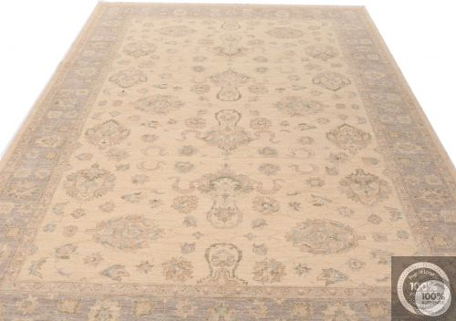 Garous Ziegler design rug - Beige Background / Grey Borders - flat