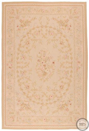 Aubusson rug light beige floral - Design 62