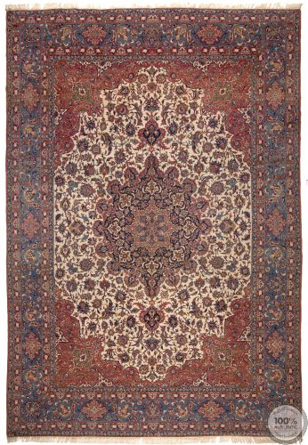 Antique Fine Persian Isfahan Rug - Circa 1930