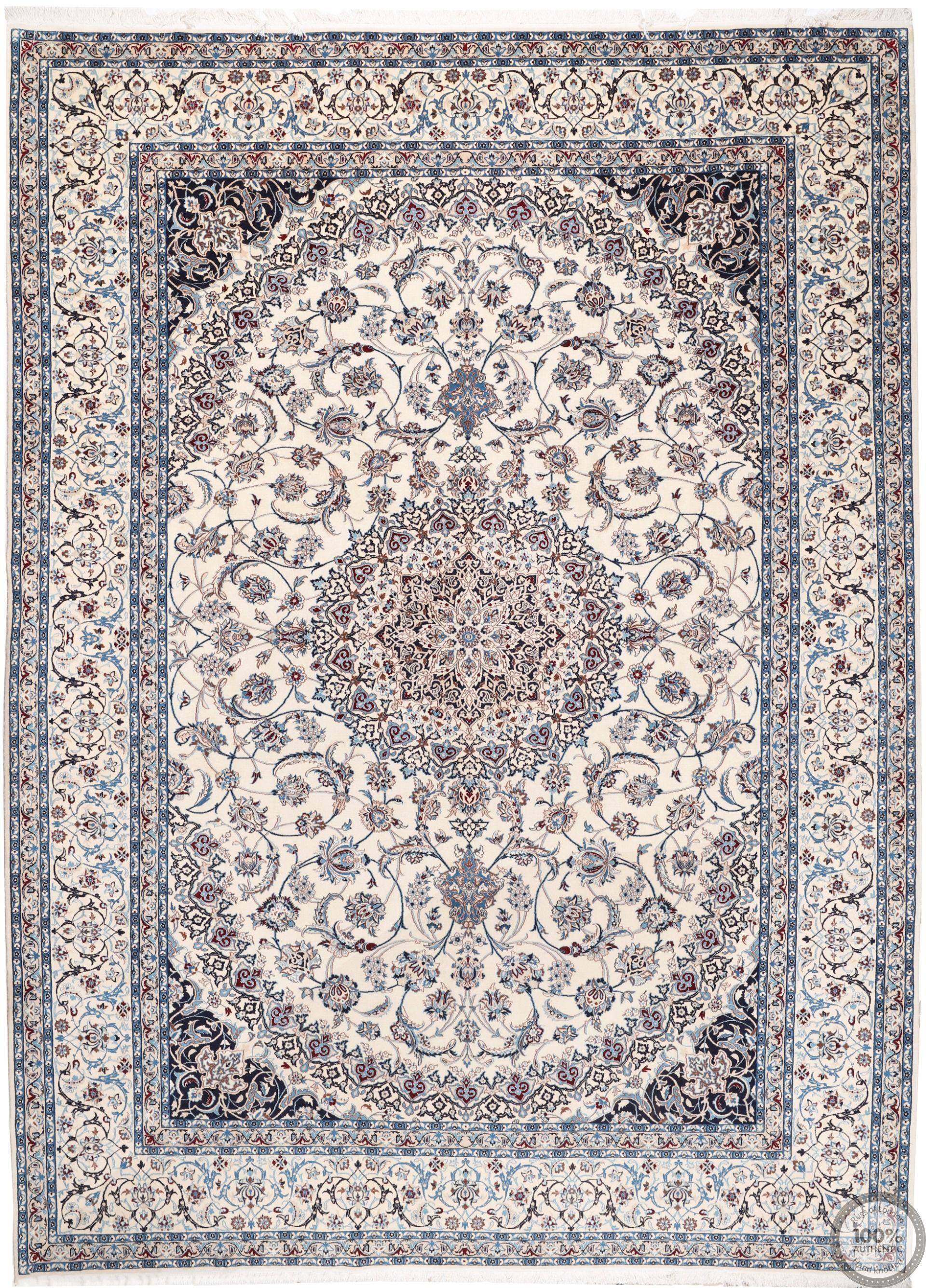 PERSIAN NAIN 9La RUG WITH SILK HIGHLIGHTS - 14'5 x 10'6