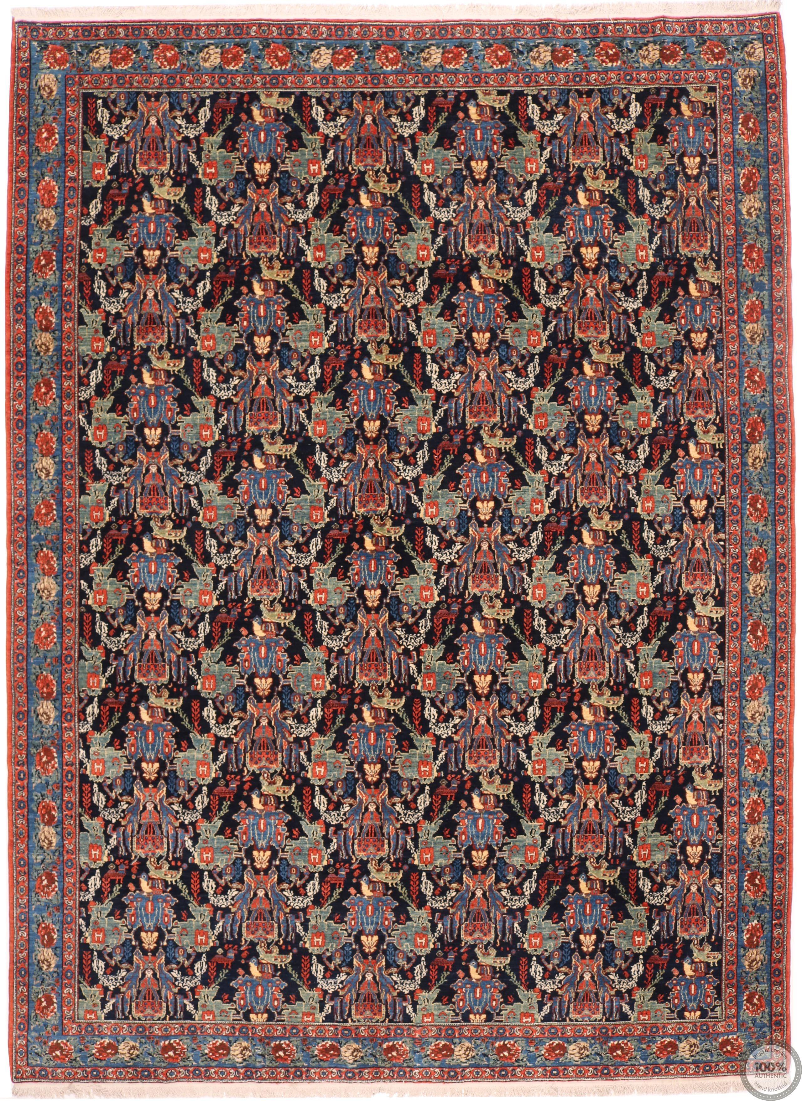 Persian Kurdish Senneh rug