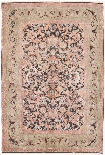 Polonaise Design Rug, Part Silk - 8' x 5'4