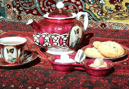Complimentary Persian tea & cake